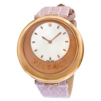 Versace Perpetuelle Mother of Pearl Dial Rose Gold-tone Stainless Ladies Watch