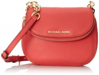 Michael Kors Bedford Watermelon Leather Flap Crossbody