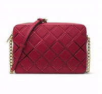 Michael Kors Jet Set Travel Large Grid East West Crossbody Cherry