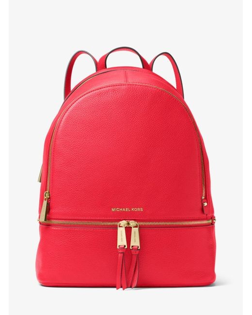 Michael Kors Rhea Backpack Large Dark Sangria