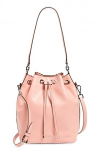 MICHAEL Michael Kors Pink Large Dottie Leather Bucket Bag