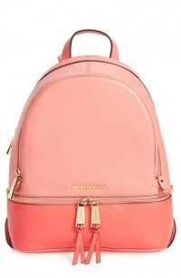 MICHAEL Michael Kors Medium Rhea Leather Backpack