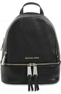 MICHAEL Michael Kors Small Rhea Leather Backpack
